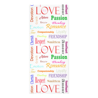 Love Synonyms by Shirley Taylor Rack Card