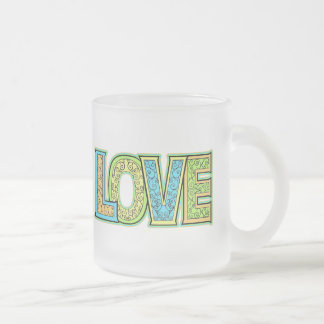 Love T-shirts and Gifts Frosted Glass Coffee Mug