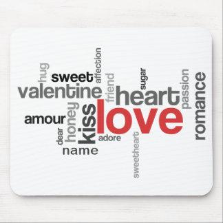 Love Tag Cloud w/ Custom Name Mousepad