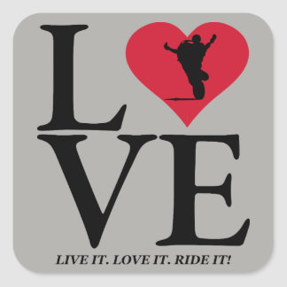 Love tank wheelies square sticker