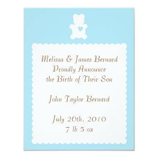 Love Teddy Birth Announcement - Powder Blue