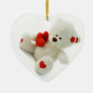 Love Teddy Valentine custom ornaments