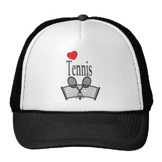Love Tennis in Black and White Cap