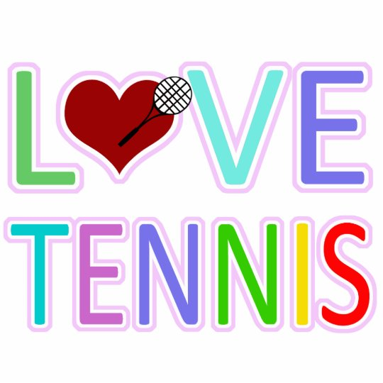 LOVE TENNIS PHOTO SCULPTURE DECORATION