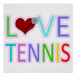 LOVE TENNIS POSTERS
