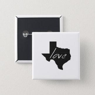 Love Texas 15 Cm Square Badge