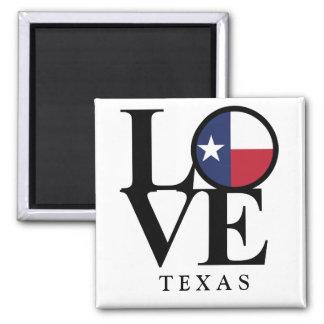 LOVE Texas 2x2 Square Magnet