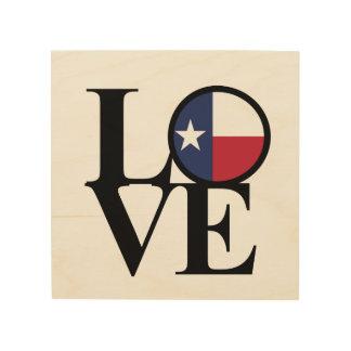 LOVE Texas Lone Star Wood Art