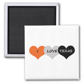 Love Texas Square Magnet