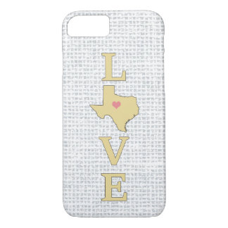 LOVE Texas State Map moveable heart iPhone 7 Case