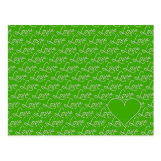 Love Text postcard customize
