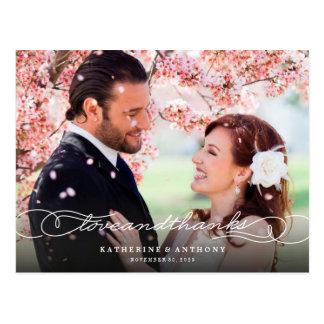 Love & Thanks Photo Wedding Thank You Postcard