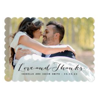 LOVE & THANKS | WEDDING PHOTO THANK YOU CARD