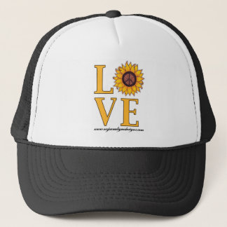 Love that Sunflower Peace Sign Trucker Hat