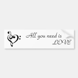 love, that's all you need bumper sticker