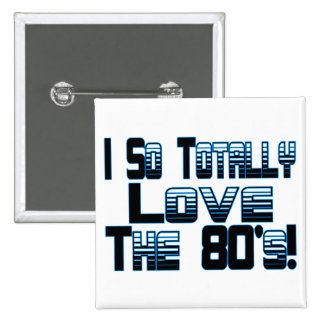 Love The 80's 15 Cm Square Badge