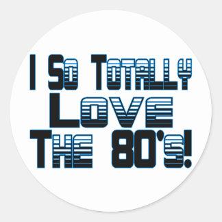 Love The 80's Round Sticker