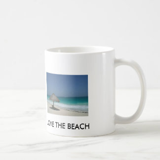 LOVE THE BEACH BASIC WHITE MUG