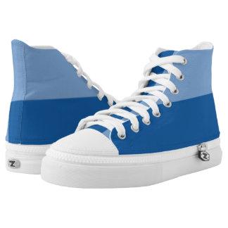 Love the Blues I Hi-Top Printed Shoes