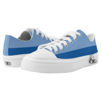 Love the Blues I Two-Tone Lo-Top Printed Shoes