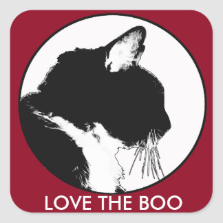 Love the Boo Cat Stickers
