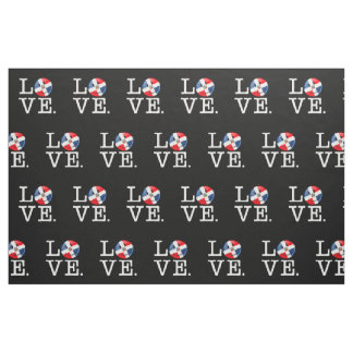 Love the Dominican Republic Smiling Flag Fabric