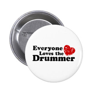 Love The Drummer Buttons