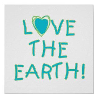 Love the Earth Environmental Print