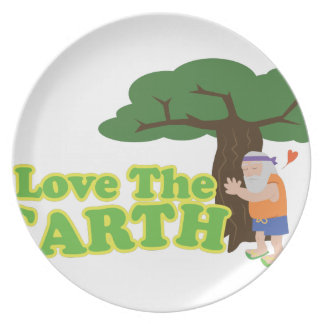 Love The Earth Party Plate