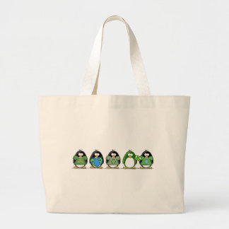Love the earth penguins tote bag
