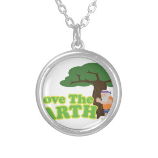 Love The Earth Silver Plated Necklace