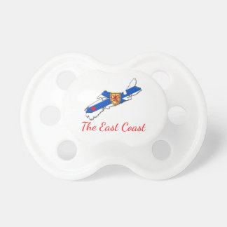 Love The East Coast  Heart N.S. baby soother