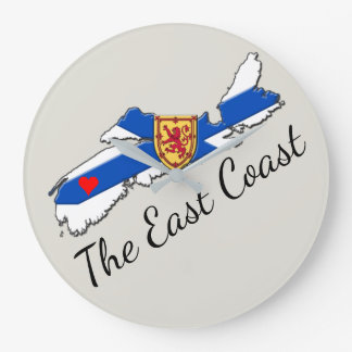 Love The East Coast Heart N.S.  clock