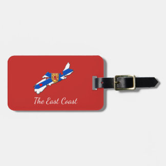Love The East Coast Heart N.S. luggage tag red