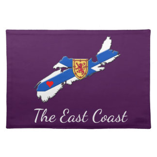 Love The East Coast Heart N.S. place mat purple