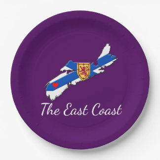Love The East Coast  Heart N.S  plate purple
