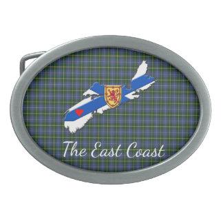 Love The East Coast Heart N.S.tartan belt buckle