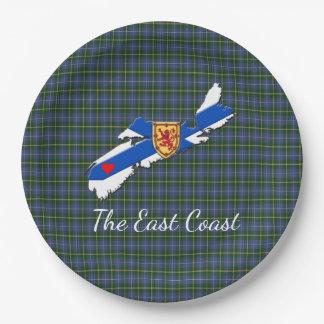 Love The East Coast  Heart N.S Tartan plate