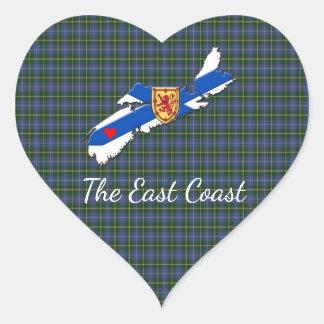Love The East Coast Heart N.S. tartan sticker