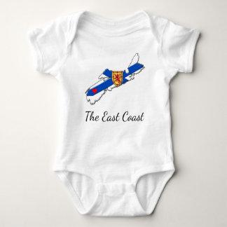 Love The East Coast  Heart Nova Scotia one piece Baby Bodysuit