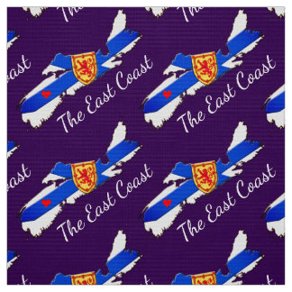 Love the East Coast Heart Nova Scotia purple Fabric