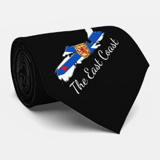Love The East Coast  Heart Nova Scotia tie