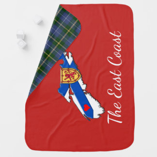 Love The East Coast  N.S. Receiving Blanket red