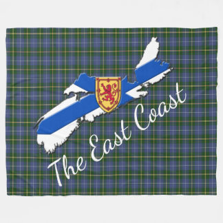 Love The East Coast  N.S.tartan fleece blanket
