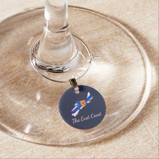 Love The East Coast Nova Scotia  wine charm