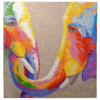 Love the elephants napkin