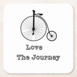 Love The Journey Square Paper Coaster