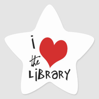 Love the Library Star Sticker