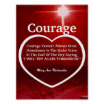 Love The Light Of Courage Quote-Customise Posters
