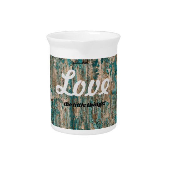Love the little things wood texture pitcher